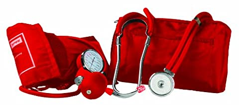 Primacare Medical Supplies DS-9181 Red Professional Blood Pressure Kit with Sprague Rappaport