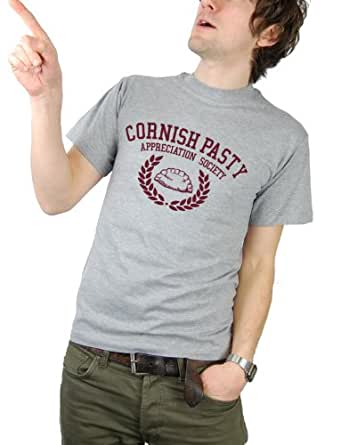 Balcony Shirts 'Cornish Pasty Appreciation Society' Mens T Shirt - Medium