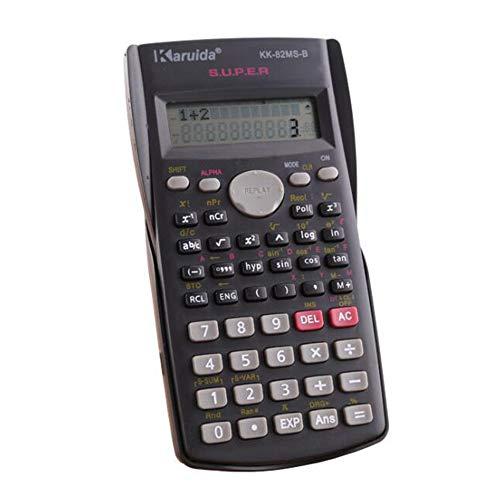 HIHUHEN Wissenschaftlicher Taschenrechner, 2-zeilig, multifunktionaler Taschenrechner, 10-stelliges Display, eingebaute Batterie, Replay-Funktion für Hochschule, Universität, Ingenieurbüro