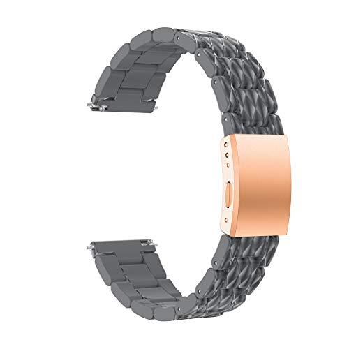 Yallylunn Edelstahlarmband In Mehreren Farben ErhäLtlich Einstellbar Wasserdicht Und Schmutzig Mode Armband FüR Samsung Galaxy Watch 42Mm
