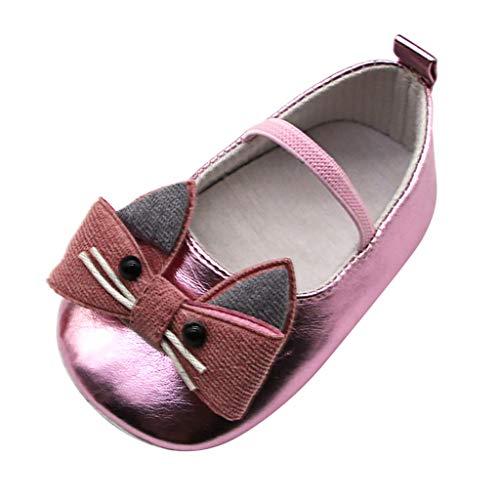squarex  Baby Sportschuhe Mädchen Freizeitschuhe Kinder Atmungsaktive Turnschuhe Lederschuhe Kleinkind Weiche Sohle Einzelne Schuhe Prinzessin Schuhe