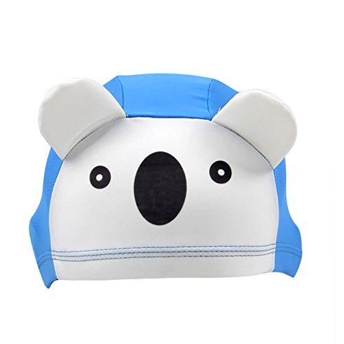 Kinder Badekappe Bademütze Schwimmkappe Super Stretch Badehaube Ohrenschutz Stoffhaube für Reisen Sport Schwimmen Dusch oder Bade