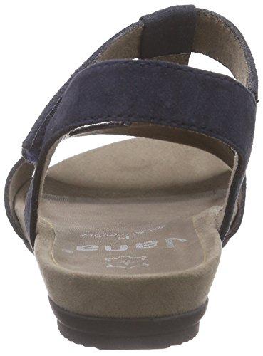 Jana 28112, Scarpe col tacco con cinturino a T Donna Blu (Blu (Navy 805))