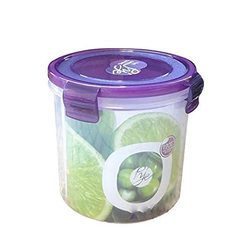 Conteneurs de stockage Round Foods 1050ml, Récipients de préparation de repas 1-Compartiment Boîtes de déjeuner avec couvercles, Boîte Bento en plastique sans BPA, réutilisable, lave-vaisselle
