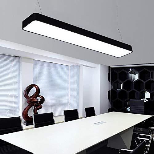 LED Pendelleuchte Moderne Büro Kronleuchter Kreativ Wohnzimmer Streifen Licht Esszimmer Schlafzimmer Studie Anhänger Hängeleuchte Eleganter Warmes Licht Ultradünne Deckenleuchte Led 1pcs,120 * 20cm - Case Study-metall