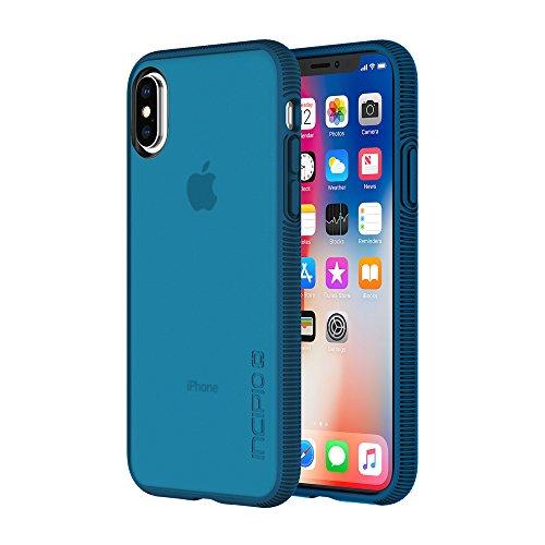 Incipio Octane Schutzhülle für Apple iPhone Xs / X - navy [Qi kompatibel/Extrem robust/Strukturierter Bumper/Transparent/Hybrid] - IPH-1632-NVY