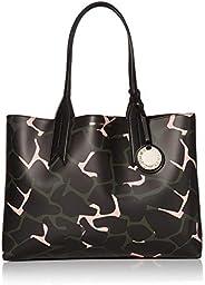 Emporio Armani Designer Camo Print Shoulder Tote Bag