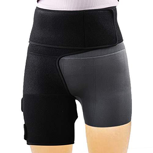 REAQER Hüft-Oberschenkelbandage Verstellbare Unterstützung für Hip, Groin, Kniesehnen, Oberschenkel und Sciatic Nerv Schmerzlinderung Zum Laufen Und Wandern für linkes und rechtes Bein