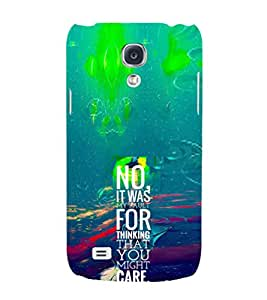 EPICCASE My fault Mobile Back Case Cover For Samsung Galaxy S4 Mini (Designer Case)