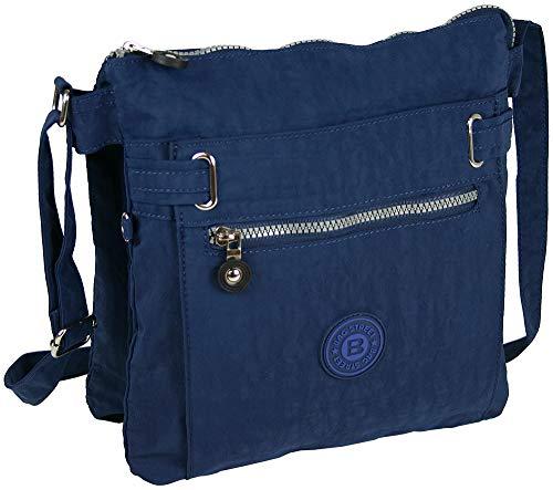 Bag Street sportliche Handtasche/Schultertasche/Umhängetasche aus Nylon - erhältlich in verschiedenen Farben (Marineblau) (Marine-blau-handtasche)