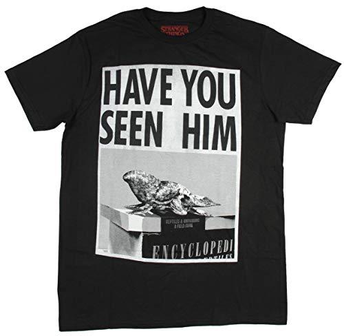 Skript-logo-jugend-t-shirt (Hybrid Herren Hemd Stranger Things D'Artagnan Dart Have You Seen Him? T-Shirt - Schwarz - 3X-Groß)