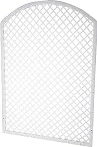 Spalliera in polyrattan per secchio per piante, 77 x 120 cm, bianco
