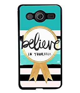 PrintVisa Designer Back Case Cover for Samsung Galaxy Core I8260 :: Samsung Galaxy Core Duos I8262 (Believe In Yourself Design)