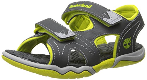 Timberland Active FTK_Adventure Seeker 2 Unisex-Kinder Sandalen, Grau (Dark Grey With Green), 27 EU