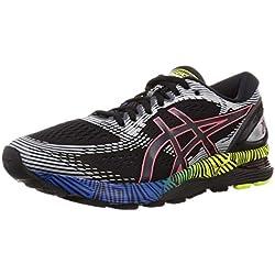 ASICS Gel-Nimbus 21 Ls, Chaussures de Running Homme, Noir (Black/Electric Blue 001), 42.5 EU