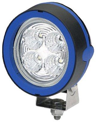 HELLA 1GM 996 136-361 Mega Beam LED, LED Arbeitsschweinwerfer, Nahfeldausleuchtung, 4 LEDs, 800 Lumen, hängender Anbau, mattschwarz beschichtetes Aluminiumgehäuse, 12V/24V