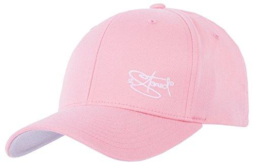 2Stoned Flexfit Cap Wooly Combed Rosa mit Stick, Größe S/M (56 cm - 58 cm), Basecap für Damen und Herren