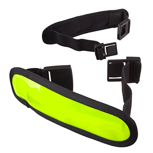 Lilware Dare to Be Visible Armband Regolabile Riflettente Bracciale / Wristband / Braccialetto con Flessibile LED Lampeggiante. Colore Verde