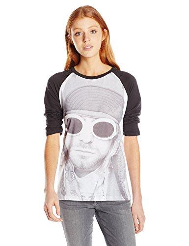 FEA Damen Sonnenbrille Cobain Kurt Raglan Top - Weiß - Groß