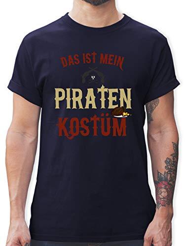 - Das ist Mein Piraten Kostüm - XXL - Navy Blau - L190 - Herren T-Shirt und Männer Tshirt ()