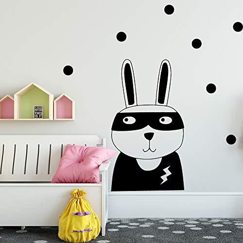 carta da parati autoadesiva del vinile del coniglio di stile nordico per la decorazione domestica decalcomania della parete di arte della parete impermeabile m 30cm x 52cm
