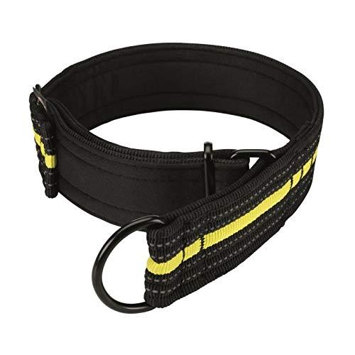 Trixie 207309 Sporting Fusion Zug-Stopp-Halsband, M-L: 38-48 cm/45 mm, schwarz/gelb