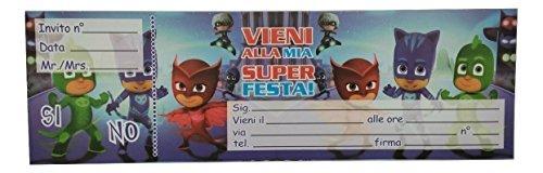 confronta il prezzo online PJ MASKS BLOCCHETTO INVITI FESTE COMPLEANNO PARTY BAMBINI SUPER PIGIAMINI