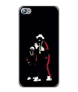 FUSON Designer Back Case Cover for Micromax Canvas Fire 4 A107 (Ultraviolet Light White Shoes Posing Spects Gold )