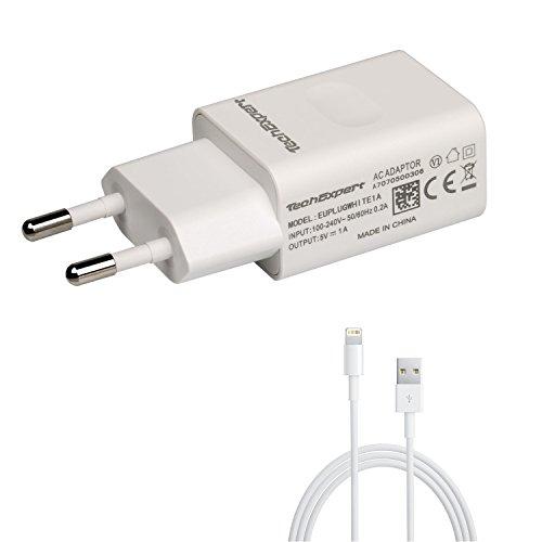 Cavo di ricarica 1m + 1A USB Alimentazione Bianco per iPhone 5 5S 5C SE 6 6S 6Plus iPod Touch 5 6 ipod nano 7