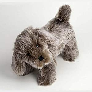 Canterbury Bears ltd 123 Hamish Soft Dog - Oso de Peluche con Punta Plateada, Color marrón