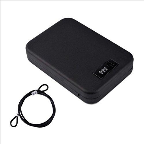 nuzamas tragbar Sicher, Stahl Kombination Kabel LOCKBOX Sicher für Reise, Auto oder Zuhause Lock Box - Gps-lock