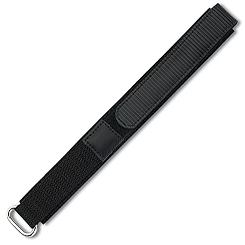 Eichmüller–textil Reloj de pulsera con velcro negro 20mm
