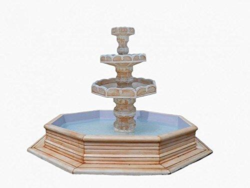 Mega décoratif de Fontaine de Fontaine de Fontaine de bassin de cascade de Fontaine de la Fontaine en pierre noir/bronze Vert-de-gris