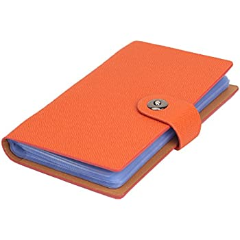 160 business card holder book booklet wallet pouch organiser folder tenn well business card books 300cell business card holders with magnetic closure for organizing cards orange colourmoves