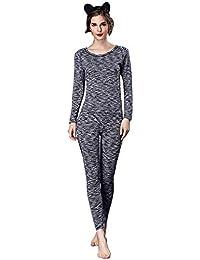 Mujer Conjunto De Pijama Primavera Otoño Ropa para El Hogar Elegante Caliente Cuello Redondo Especial Estilo