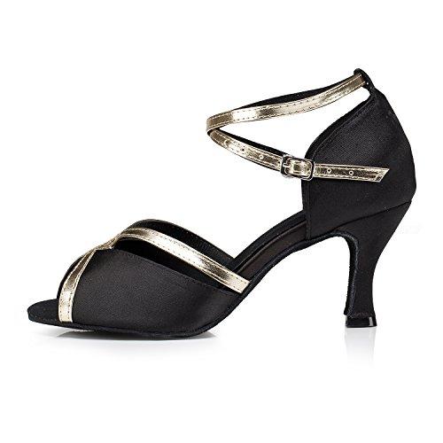 Minitoo ,  Damen Jazz, modern Black-7.5cm Heel