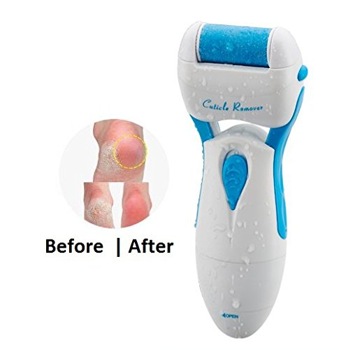 BTS Pedi Remedy Electronic Foot File- Perfect Pedicure Foot File Spa Rest --Hard Skin for Smooth Results--Callus Hard Dry Rough Skin Remover Soft, Silky Feet Battery Operated Tub