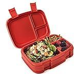 Bentgo Fresh - Auslaufsichere Lunchbox | Bento Box mit 4 Unterteilungen, Rot