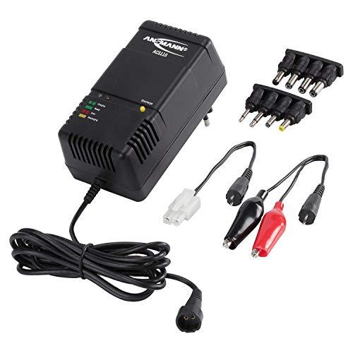 ANSMANN ACS110 Chargeur de batterie / Chargeur intelligent / polyvalent pour pack batterie de 1 á 10 éléments NiMH/NiCd de 1,2 V á 12 V / option de pré-décharge / arrêt automatique