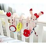 Simpatico peluche per passeggino Giocattoli per bambini farciti da appendere 41lYoG5BvPL. SS150