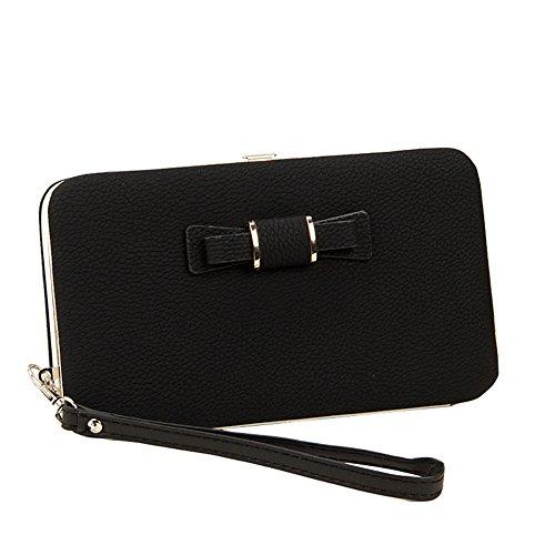 rse Frauen Großer Kapazitäts Clutch Geldbörse Mode Handys Fall Tasche mit Handschlaufe für iPhone 7/6 / 6s / 5 / 5s, Samsung Galaxy S6 / S6 Edge oder andere Handys ()