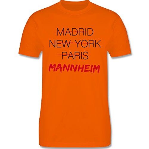 Städte - Weltstadt Mannheim - Herren Premium T-Shirt Orange