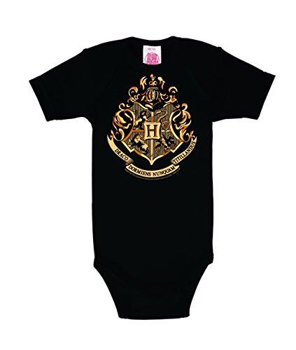Logoshirt - Film - Harry Potter - Poudlard - Emblème - Body pour bébé - Gigoteuse - Olive - Design Original sous Licence, Taille 86/92, 13-24 Mois