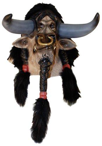 World of Warcraft Tauren Overhead Latex Mask Delux (Of Warcraft-masken World)