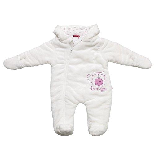 SALT AND PEPPER Baby-Mädchen Schneeanzug NB Jumpsuit Love, Weiß (Off-White 017), 62