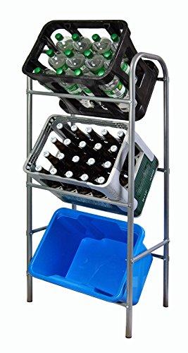 Getränkekistenregal Flaschenkastenregal für 3 Kisten Regal für Getränkekästen 116 x 33 x 50 cm