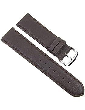 Birkenstock Imperator Ersatzband Uhrenarmband Kalbsleder Wasserdicht Dunkelbraun 20661S, Stegbreite:20mm