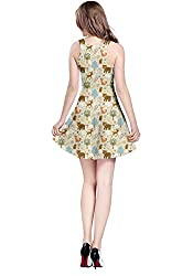 CowCow Womens Colorful Woodland Cute Animals Pattern Sleeveless Dress, XS-5XL