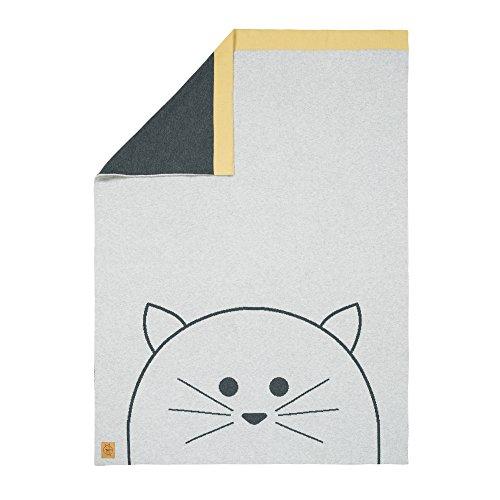 Lässig 1542001108 Baby-Kinderdecke/Babystrickdecke Little Chums Cat, mehrfarbig (Cat-bio-spielzeug)