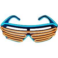 Gafas con iluminación LED, de dos colores, actuales, ice blue+orange